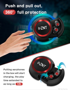ZNT AirFits Pro Bluetooth Wireless Headset 5.0 Bluetooth In-ear Black