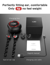 Load image into Gallery viewer, ZNT AirFits Pro Bluetooth Wireless Headset 5.0 Bluetooth In-ear Black
