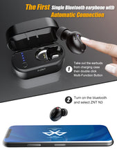 Load image into Gallery viewer, ZNT N3 Bluetooth 5.0 Auto Connect Single Mini Wireless Earphone Black
