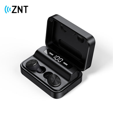 ZNT SoundBox Bluetooth 5.0 TWS Earbuds WaterProof Earphones with Binaural Built-in Microphone and Digital Display
