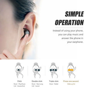 ZNT AirFits Pro Wireless Bluetooth 5.0 Hifi Earphone Waterproof Sport Earpiece