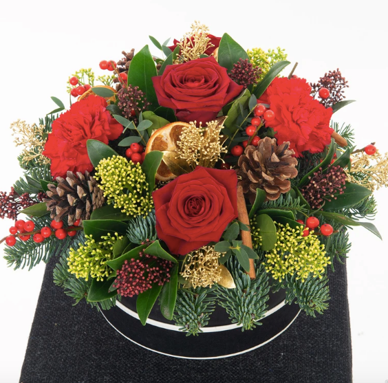 Pre-order Christmas Flowers with Mimosa