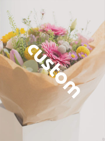 Custom Flowers by Mimosa Flowers (£90)