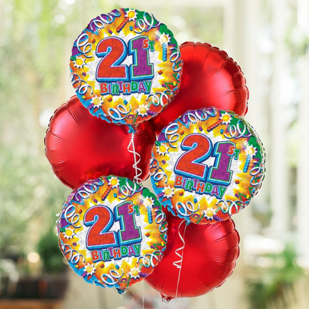 21st Special Birthday Balloon Bouquet
