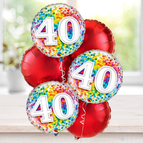 40th Special Birthday Balloon Bouquet