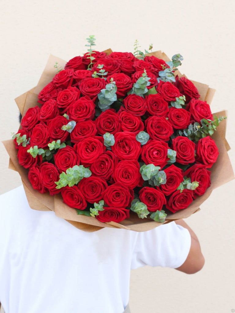 50 Red Rose Hand-tied
