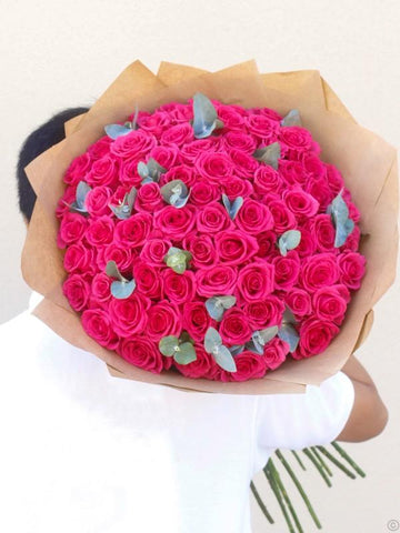 75 Pink Rose Hand-tied