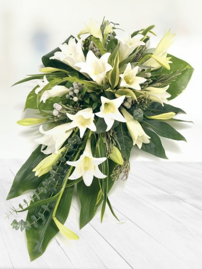White Lily Spray
