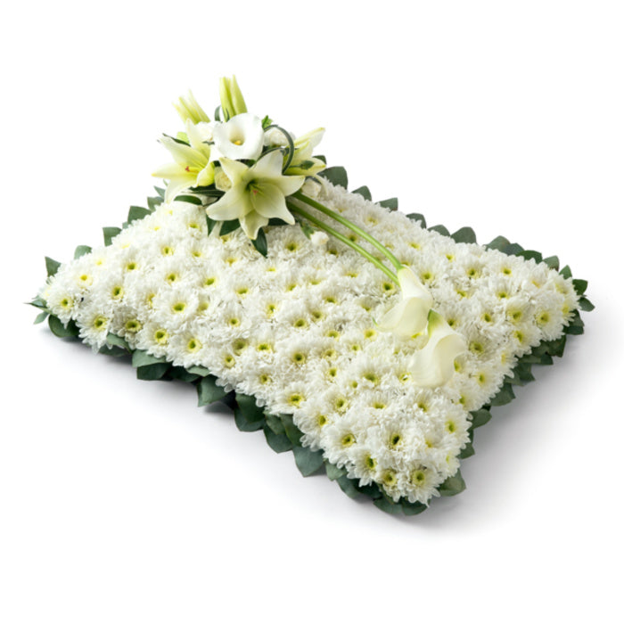 At Peace Funeral Flower Pillow