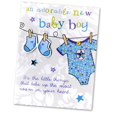 Baby Boy Greetings Card