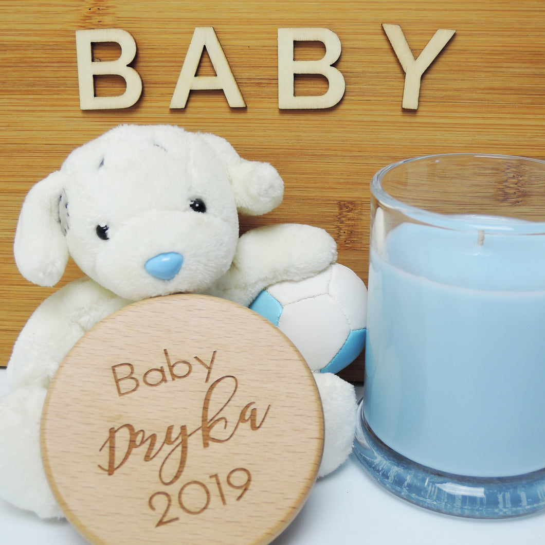 Personalised Wooden Oak Candle (large) - ENGRAVED