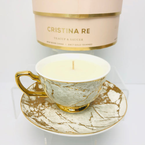 Cup/Saucer Set by Cristina Re - White Marble