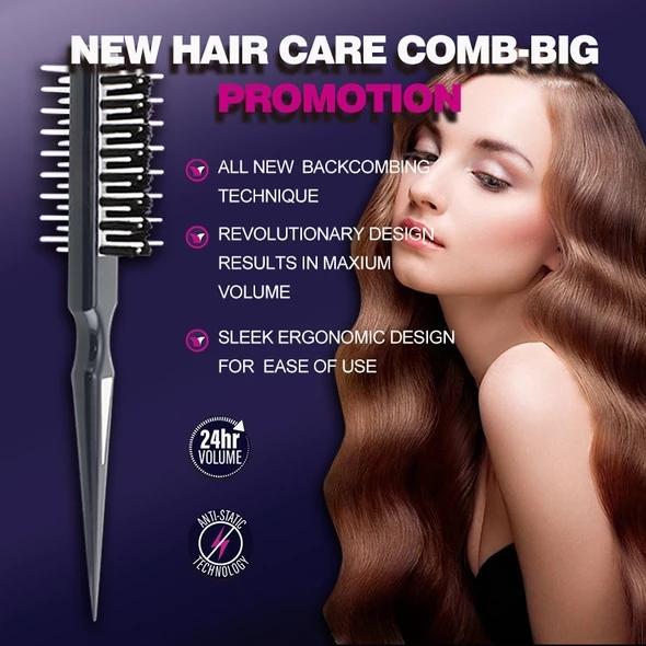 3-in-1 Brush for Perfect Backcombed Volume and Style