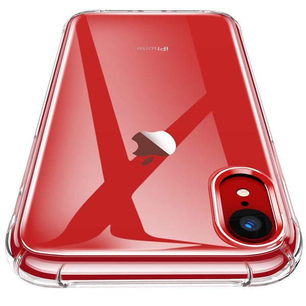 "iPhone XR Transparent Phone Case,  Protected Heavy Duty Case with Soft TPU Buffer Cover for iPhone XR 6.1"" (2018) - Transparent"