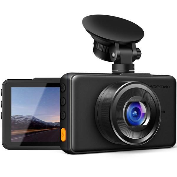 Dash Cam 1080P Full HD DVR Car Recorder 3 Inch LCD Screen 170° Wide Angle, G-sensor, WDR, Parking Monitoring, Ring Recording, Motion Detection