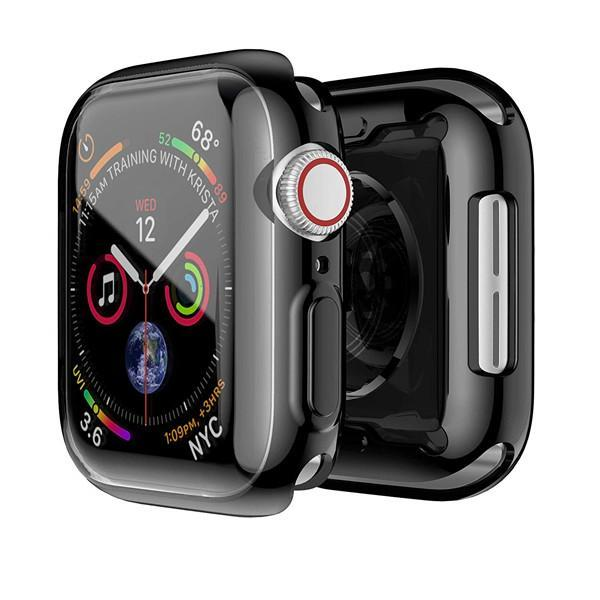 Apple Watch 4 Case with Buit in TPU Screen Protector 44 mm - Omnilateral Case HD Transparent Slim Phone Case Apple iwatch 44mm Series 4 (Black, 44 mm)
