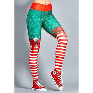 2018 New Exaggerated Yoga Style Pants Hot Sale Explosions Sexy Christmas Striped Print Pants S-XL Code Optional-EXERCISE & FITNESS-zadame.com-S-red /colorful-zadame.com