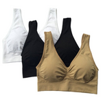 Hot Selling TV Products* Comfortable Seamless Wireless Bra Sale (3pcs/set)-APPAREL-zadame.com-BLACK/WHITE/BEIGE-4XL-zadame.com