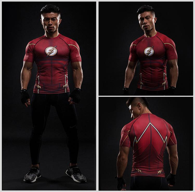Men's Super-Hero Compression Sports Fitness Elastic T-Shirt Quick-Drying Running