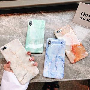 IMD marble pattern for Apple xs mobile phone case iPhone smooth soft cover anti-fall
