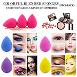 5 piece cosmetic blender sponge set, foundation makeup sponge, flawlessfor Liquid, cream, and powders, multicolor cosmetic sponge