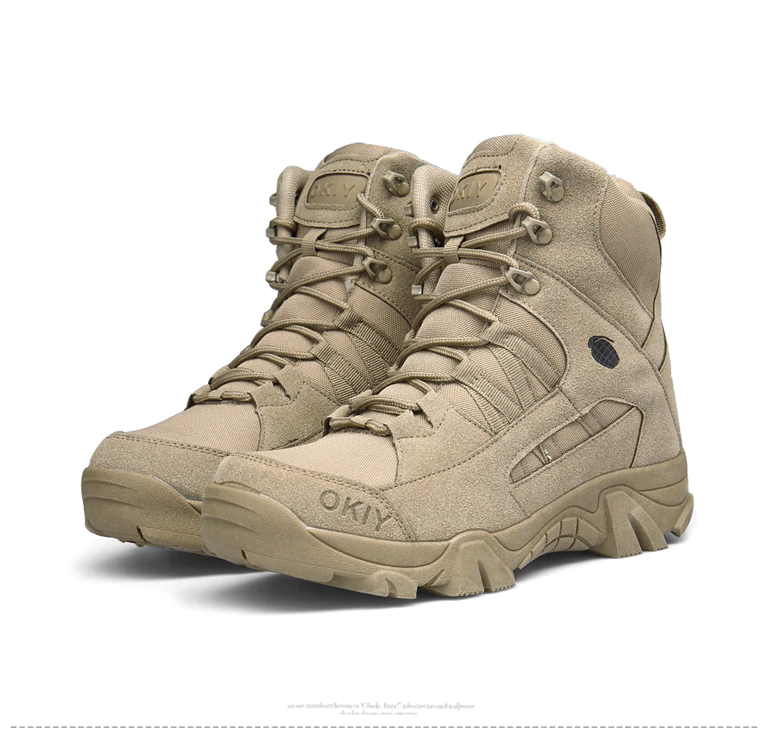 Brand New Men Shoes Autumn Winter Men Boots Fashion Male Lace-Up Shoes High-Cut Men Casual Military Desert Tactical Boots-OUTDOOR & EQUIPMENT-zadame.com-41-Beige-zadame.com