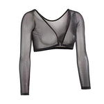Women's Basic Slip-on Mesh Sleeves Seamless Arm Shaper-Apparel & Fashion-zadame.com-zadame.com