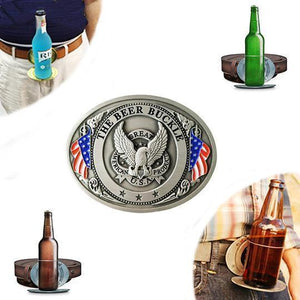 Beer Buckle Holds A Bottle Or Can Hands Free-Apparel & Fashion-zadame.com-zadame.com