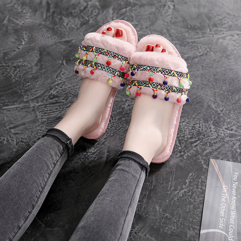 Bohemia Luxury Fur Slides