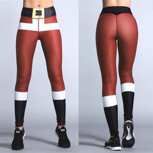 2018 New Exaggerated Yoga Style Pants Hot Sale Explosions Sexy Christmas Striped Print Pants S-XL Code Optional-EXERCISE & FITNESS-zadame.com-S-red/black-zadame.com