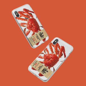 Creative funny couple crayfish for 78plus silicone anti-drop phone case iPhoneXS soft shell