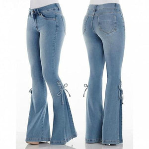 70s Hip Hugger Flared Stretchy Jeans