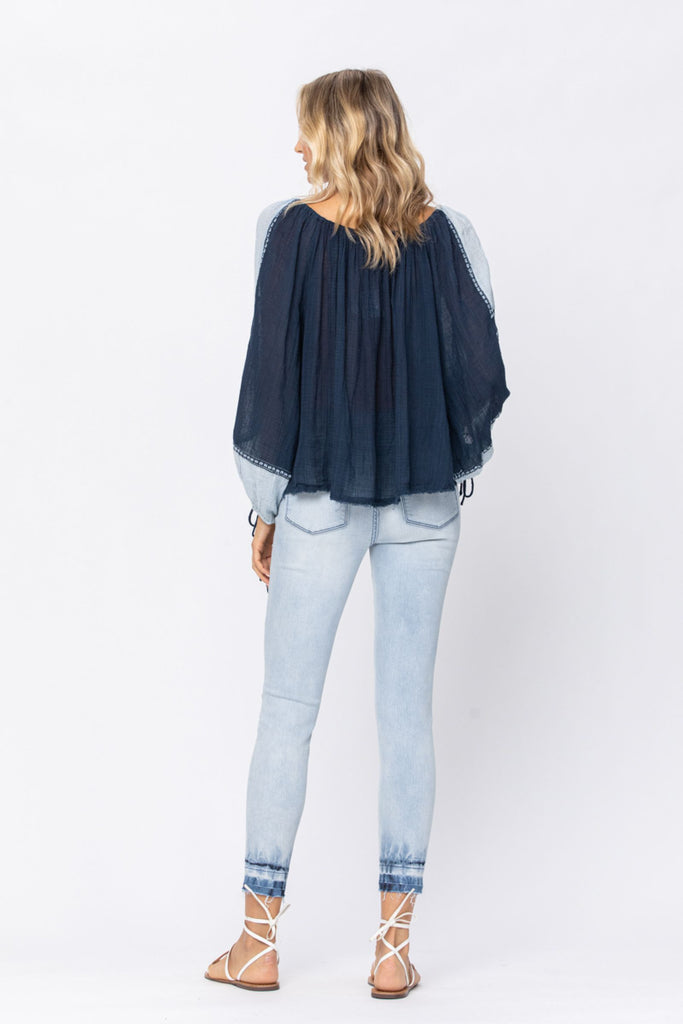 REG & PLUS The Ombre Skinny Jeans - Roseabella