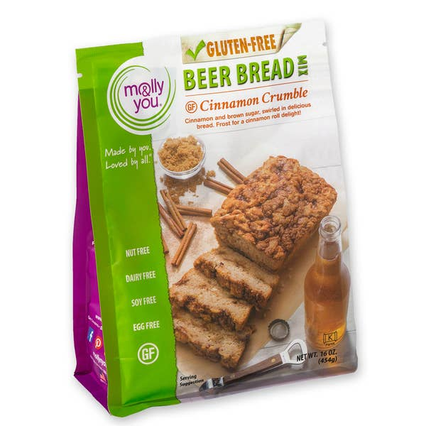 Gluten Free Cinnamon Crumble Beer Bread Mix - RoseabellaCo