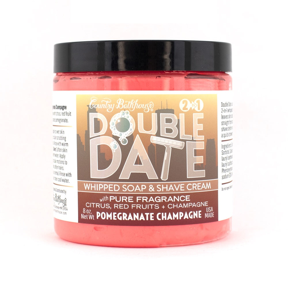 Double Date Whipped Soap and Shave Cream - Roseabella