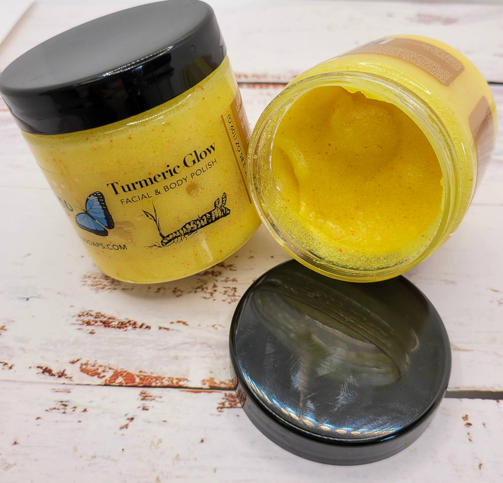 4oz Turmeric Glow - Facial & Body Polish - Roseabella