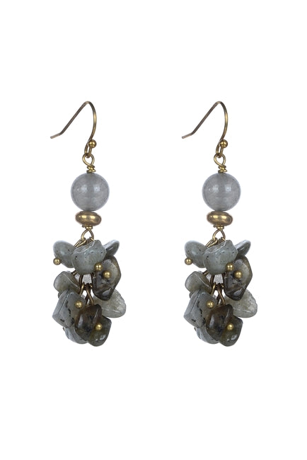 Gravel Stone Drop Earrings - Roseabella