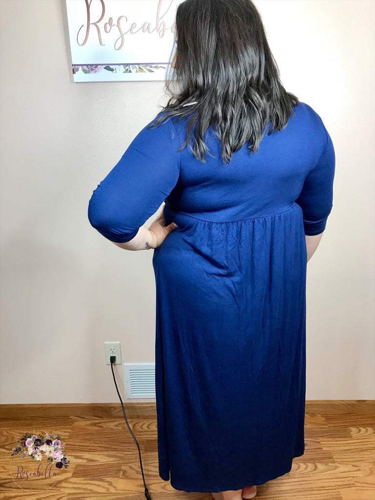 2XL ONLY Navy Blue Maxi Dress - RoseabellaCo