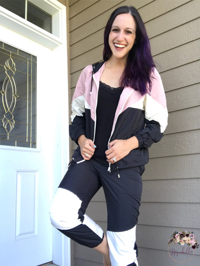 S-L ONLY Windbreaker Jogger Pants - RoseabellaCo