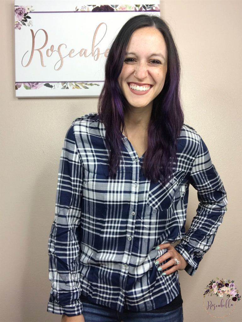 Small ONLY Country Plaid Top - RoseabellaCo