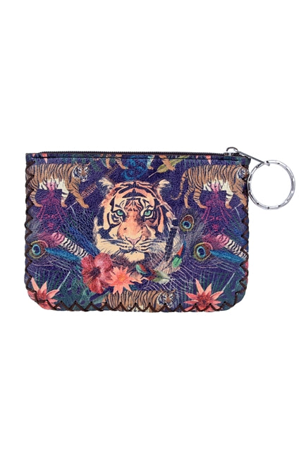 Tiger Ethnic Pattern Leatherette Pouch - RoseabellaCo