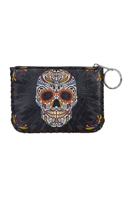 Sugar Skull Ethnic Pattern Leatherette Pouch - RoseabellaCo