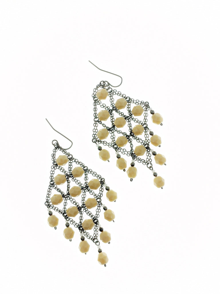 Ivory ONLY Chandelier Earrings - RoseabellaCo