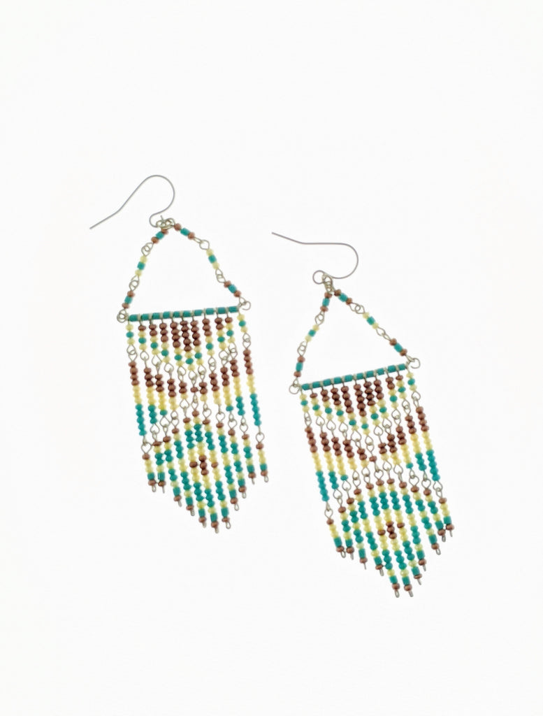 Aqua Kokopelly Earrings - RoseabellaCo