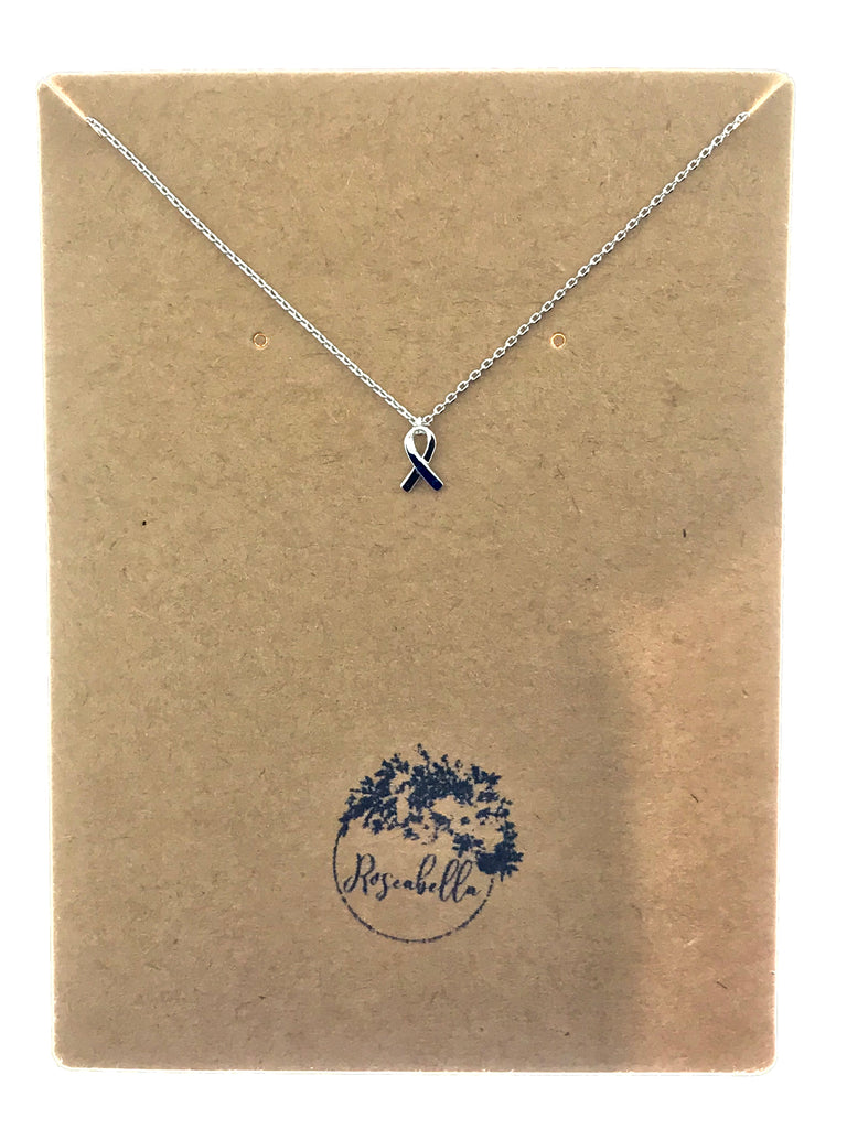 Fundraiser Cancer Ribbon Necklace - Roseabella