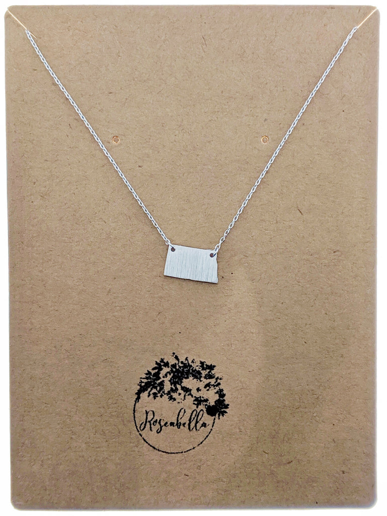 North Dakota State Pendant Necklace - Roseabella
