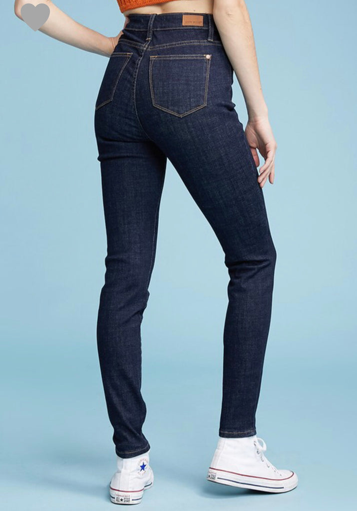 REG & PLUS Button Fly Skinny Jeans - RoseabellaCo