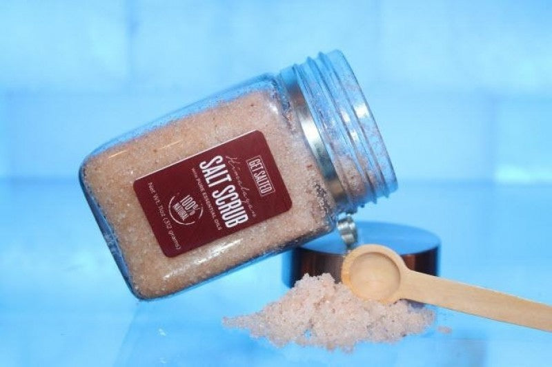 Himalayan Salt Scrub with Essential Oils - RoseabellaCo
