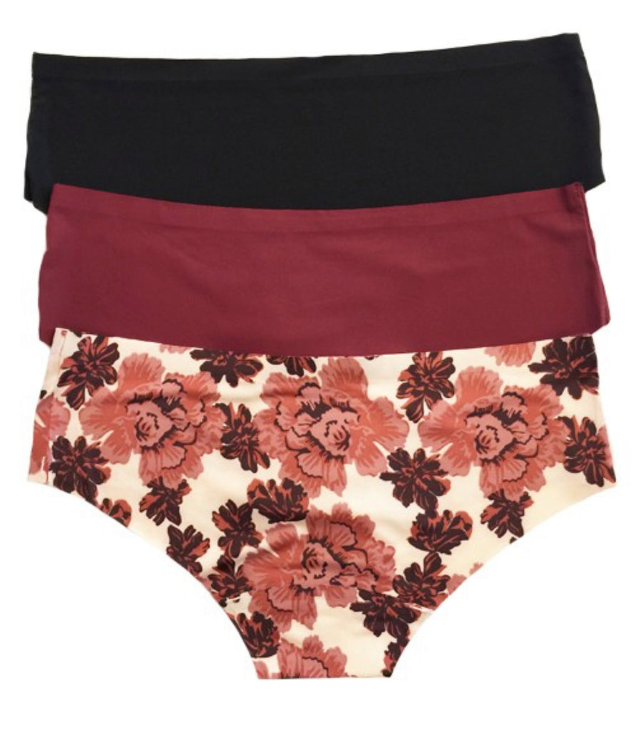 S & L ONLY 3PK Rose Beauty Underwear - RoseabellaCo