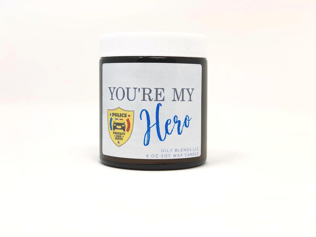 Police Officer Hero Candle - RoseabellaCo